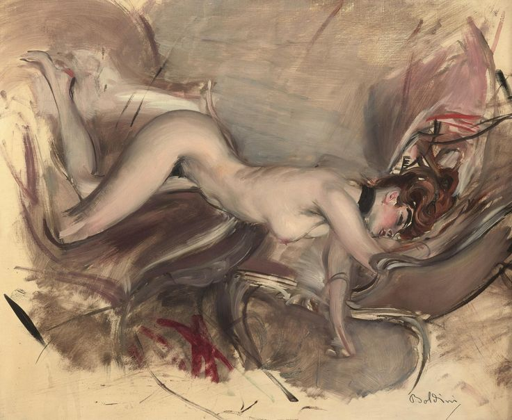 "amare-habeo: ""  Giovanni Boldini (Italian, 1842 - 1931) Nude Young Woman, 1890 Oil on canvas, 60 x 74 cm """