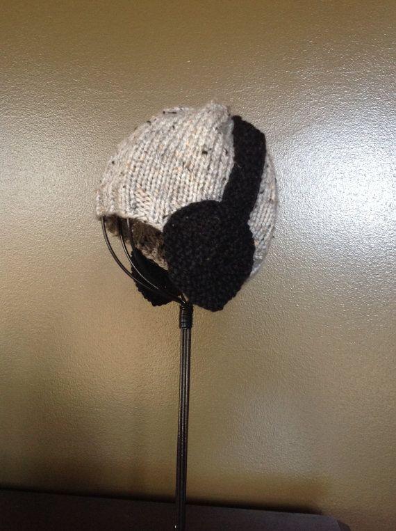 Sombrero de la gorrita tejida DJ auriculares de oído aletas bebé Handknit niño invierno fotos Prop