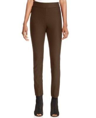 ECI Small Dark Brown Pull On Straight Leg Spandex Pants