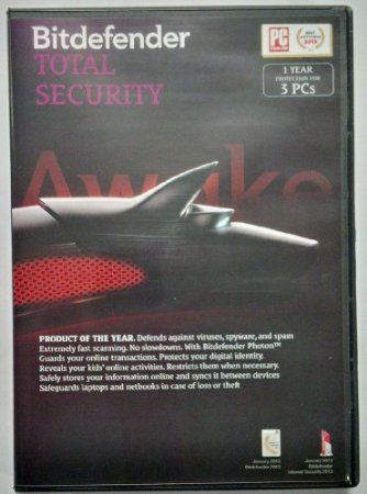 Bitdefender Total Security (2014): 3 User - 1 Year (PC):  The most advanced protection for your laptop / PC