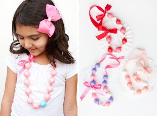 fun to make for the ladies -- bubble gum necklaces.