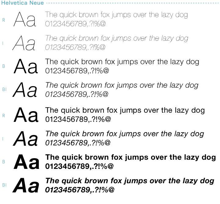 最近のMacには、Helvetica Neue というフォントが搭載されています。このフォントは、Helvetica を現代的なデザインにリニューアルしたものです。Helvetica よりもさらに可読性が高くなるように作られているばかりではなく、極細から極太まで様々な太さのフォントが揃っているのでとても使い勝手がよいです。AvenirやMyriadなども美しく使い勝手の良いフォントです。