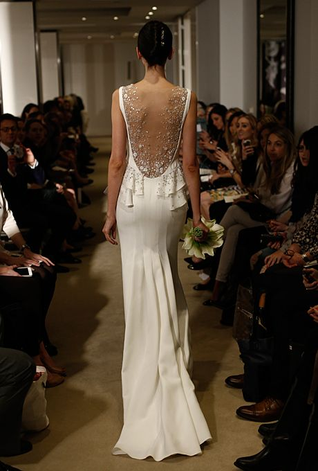 Brides.com: 25 New Wedding Dresses with Statement Backs. Wedding dress by Carolina Herrera  See more wedding dresses from Carolina Herrera's Spring 2015 collection.