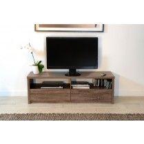 #meuble #tv des caisses recyclées de taille différentes pour box et range DVD en dessous et TV au dessus