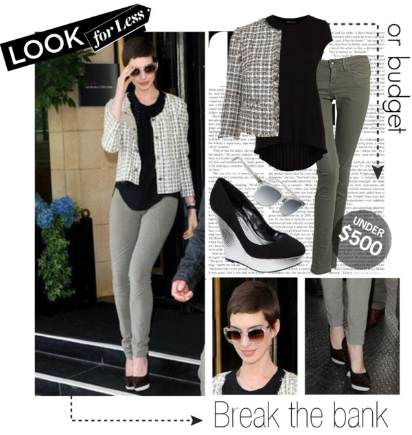 """""""Look for less - Anne Hathaway style"""" by freespiral ❤ liked on Polyvore"""