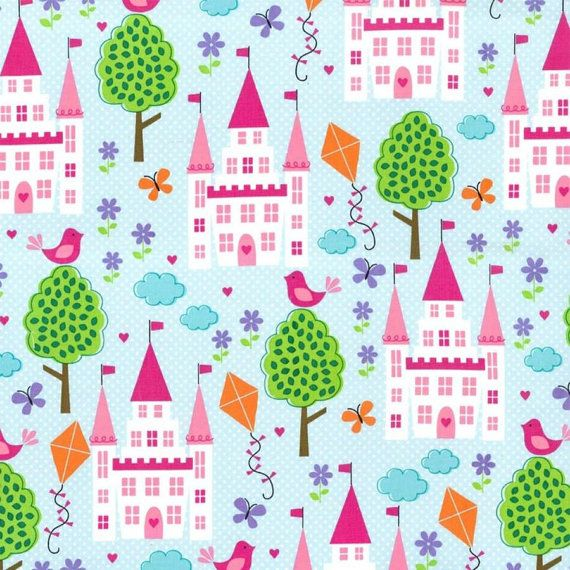 Enchanted Castles Fabric by SweetDanilou on Etsy