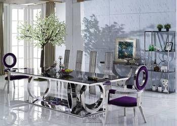 Stół do jadalni stal szklany nowoczesny gamour PICASSO