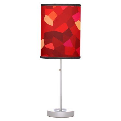 Rust Red Modern Stained Glass Abstract Shapes Table Lamp - dorm decor college diy cyo personalize room unique idea