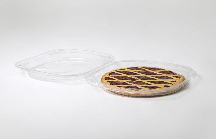 Vaschetta per crostata con coperchio XG234 - Imballaggi Alimentari Roberto Ridolfi srl