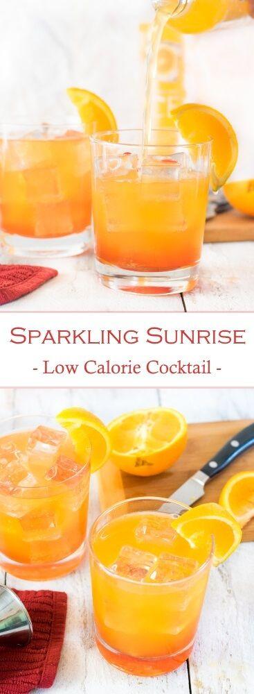 Sparkling Sunrise Low-Calorie Cocktail #ad #BeNotBland https://ooh.li/c5f4547