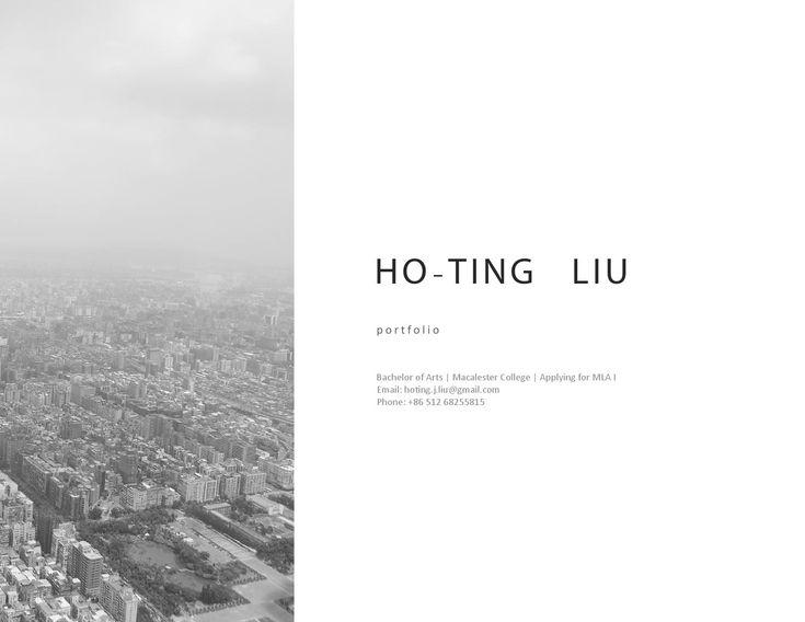 HoTing Liu Application Portfolio For Mla I