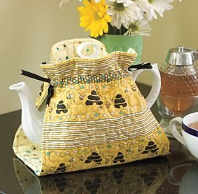 Teapot Cozy Pattern Download from ConnectingThreads.com Quilting by Susan Terpin                                                                                                                                                                                 More