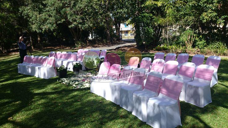 Vintage wedding with a pale pink colour theme. #ceremony #vintage #wedding #love #garden #astylishcelebration www astylishcelebration.com.au