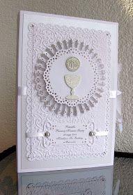 ...czyli specjalne foldery na zdjęcia to pamiątka pierwszej komunii dla księży. Zrobiłam je z papierów perłowych i wytłaczanych folderem. ...