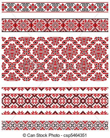 Vector - Ukrainian embroidery ornament - stock illustration, royalty free illustrations, stock clip art icon, stock clipart icons, logo, line art, EPS picture, pictures, graphic, graphics, drawing, drawings, vector image, artwork, EPS vector art