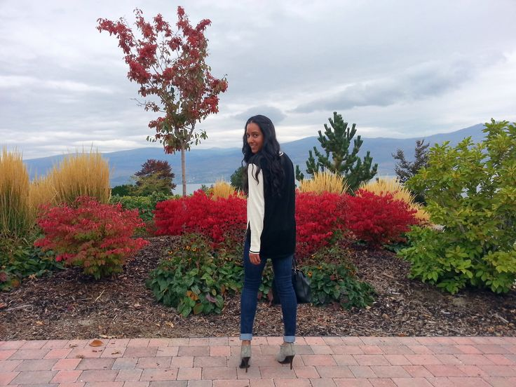 Quails Gate Winery - perfect fall winery tour outfit.