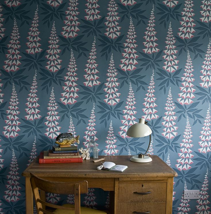 Foxglove Wallpaper in Tiki from MissPrint