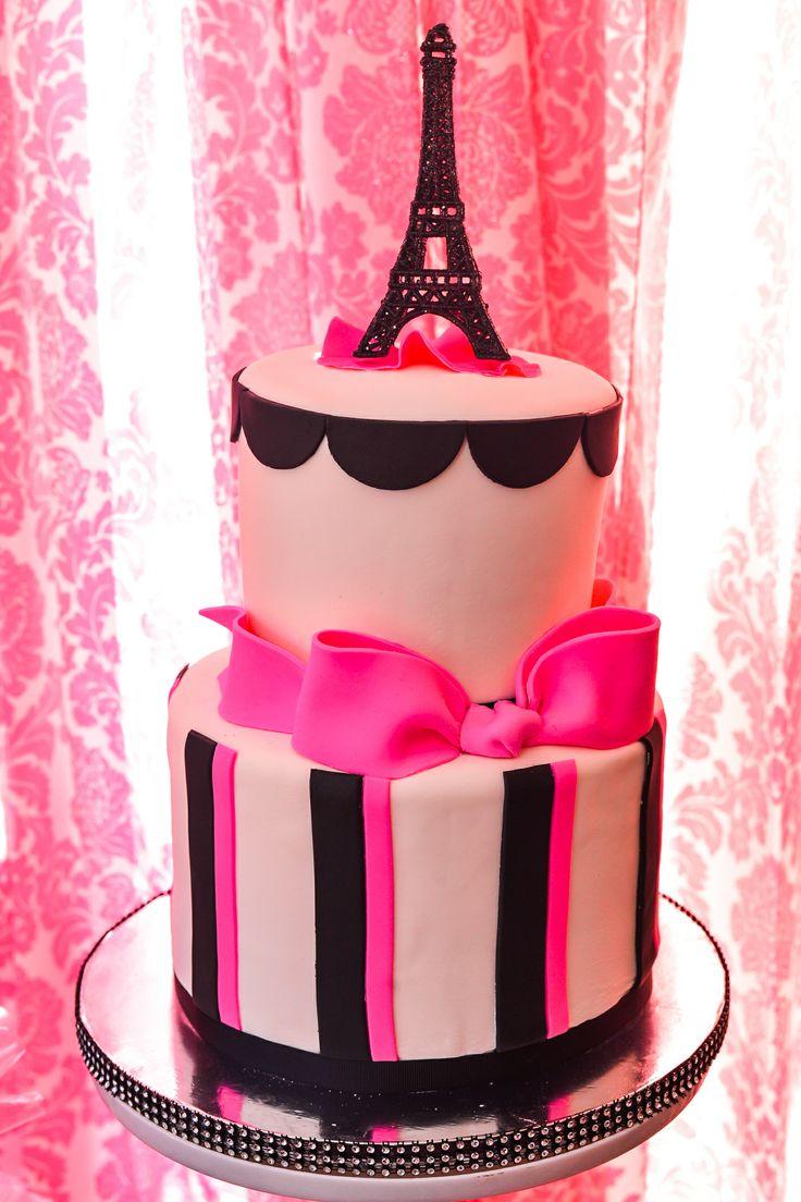 Paris themed birthday party ideas - Paris Themed Cake