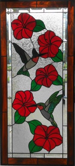Custom Hummerbird Stained Glass handmade at The Glass Gallery