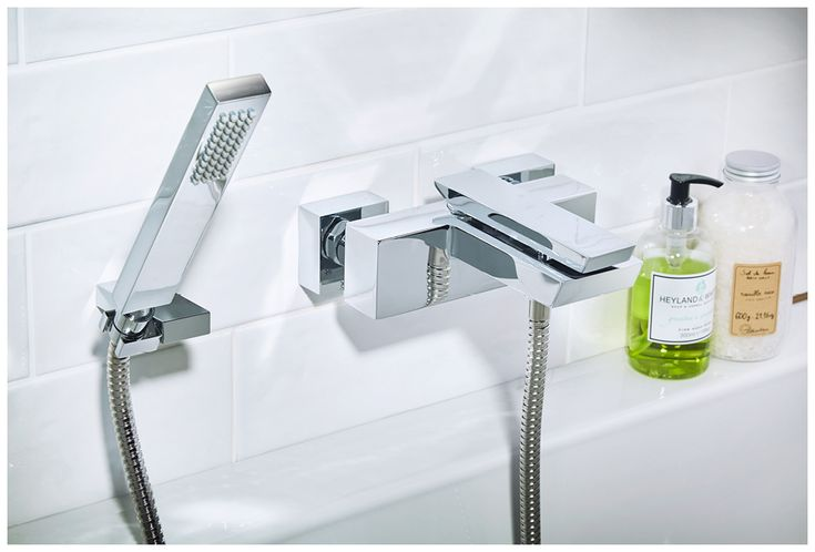 The cascata wall-mounted bath shower mixer #bathroomfurniture