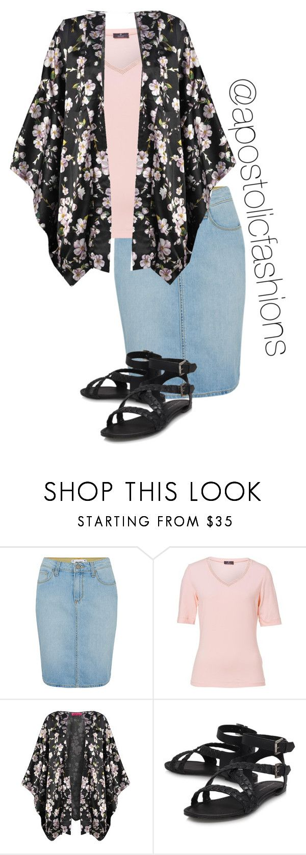 """""""Apostolic Fashions #1279"""" by apostolicfashions ❤ liked on Polyvore featuring Paige Denim, Basler and Boohoo"""