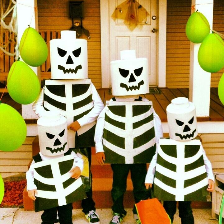 DIY Skeleton Lego Men Costumes