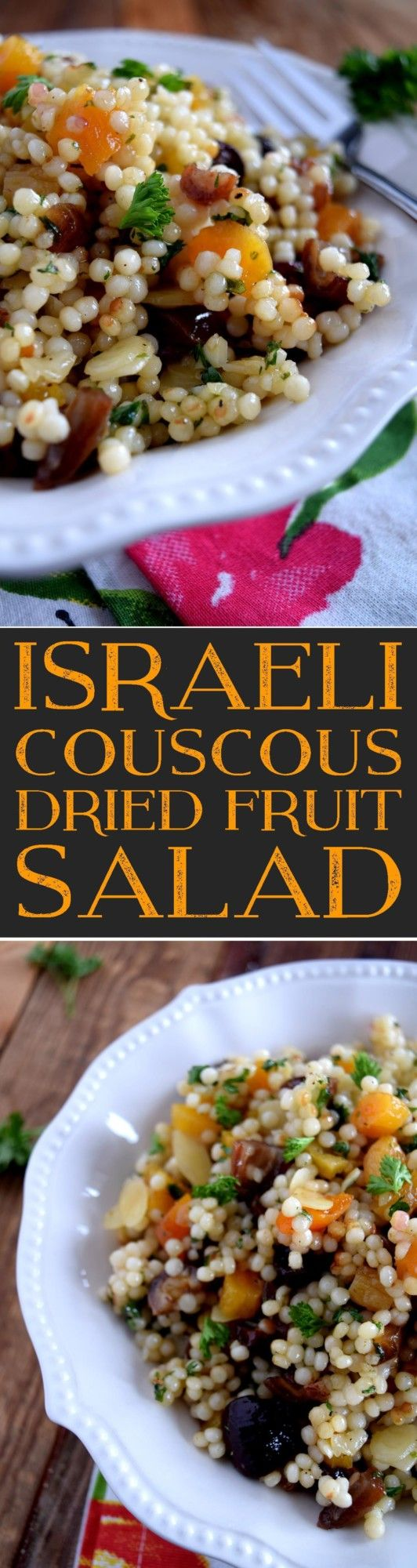 Israeli Couscous Dried Fruit Salad - Lord Byron's Kitchen