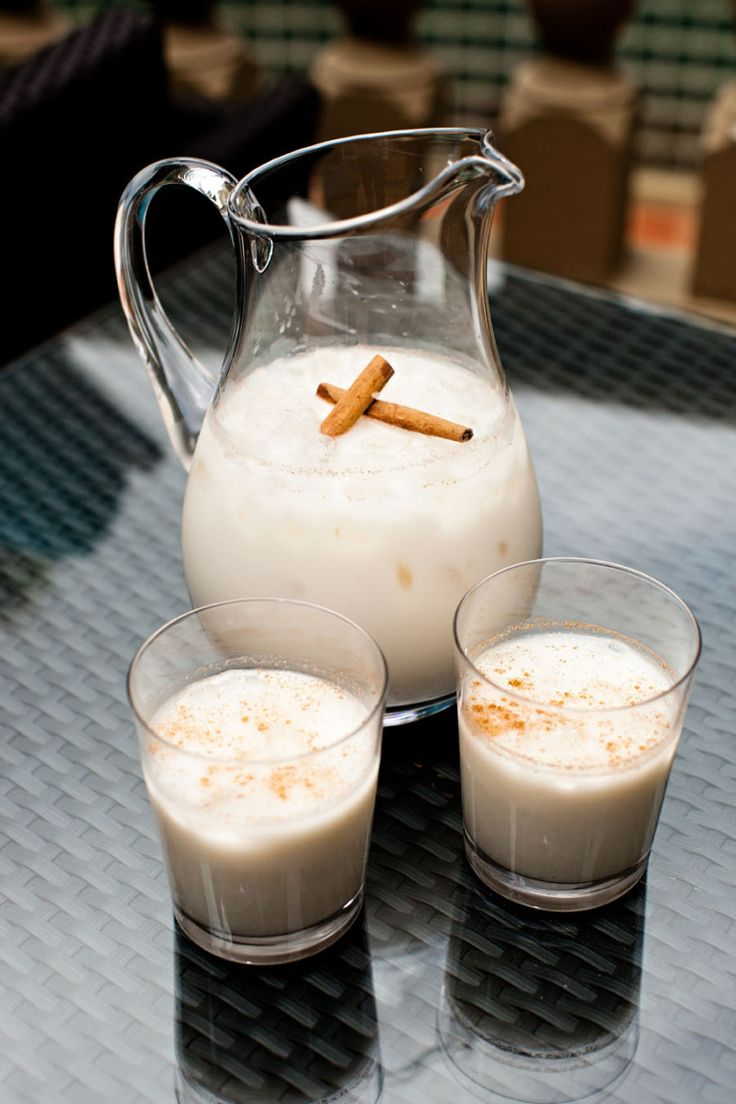 "Mmmm horchata!  [Pronounced ""or-cha-ta""]. The recipe varies depending on the region of origin, but this is how I grew up seeing it made in Mexican restaurants and households. It's what is known as ..."