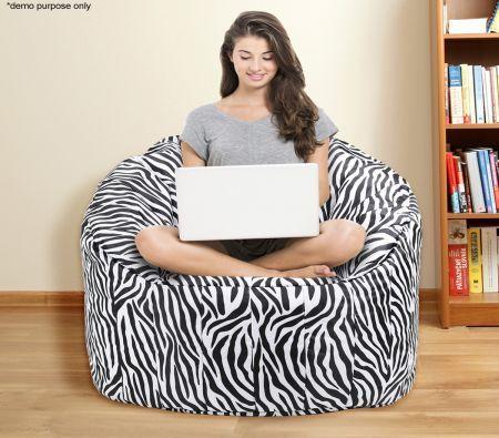 Zebra Print Bean Bag Sofa Cover