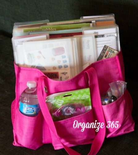 Using my 31 Organizing Utility tote for scrapbook supplies