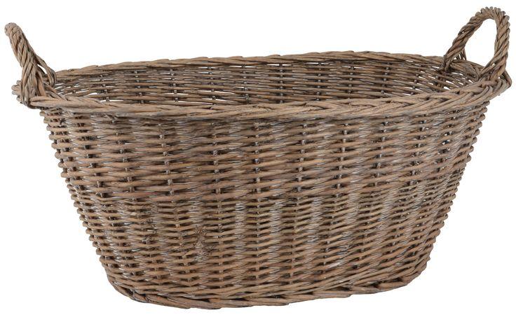 IB Laursen | Fransk oval tvättkorg med handtag | Matilde & Co | Handla online