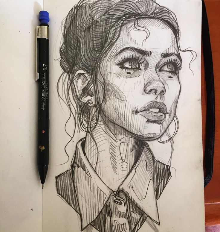 Random #sketch #girl #sexy #portrait #pencil #illustration #drawing #moleskine ✍️✍️✍️