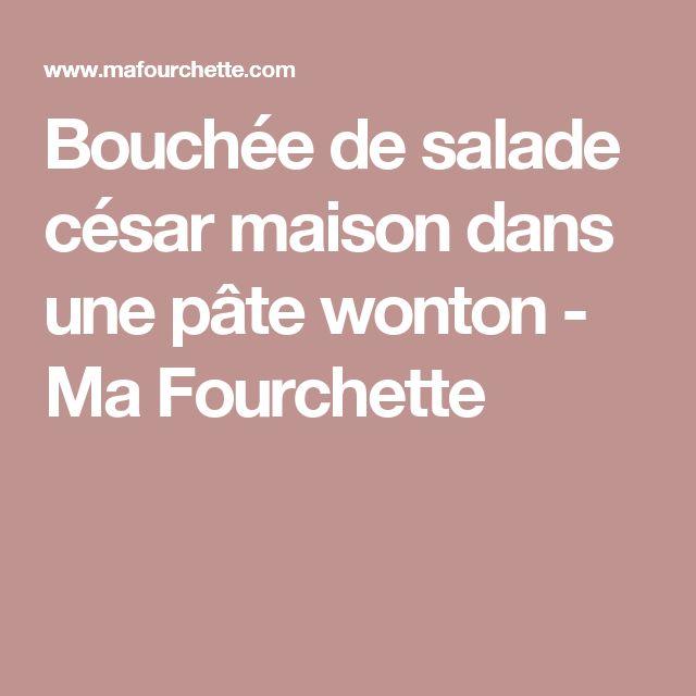 Bouchée de salade césar maison dans une pâte wonton - Ma Fourchette