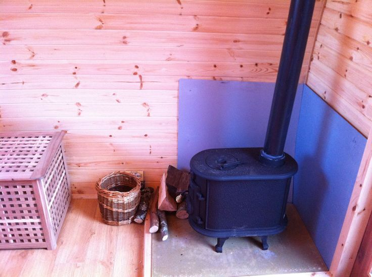 Wood Stove in shed (Sauna Idea)