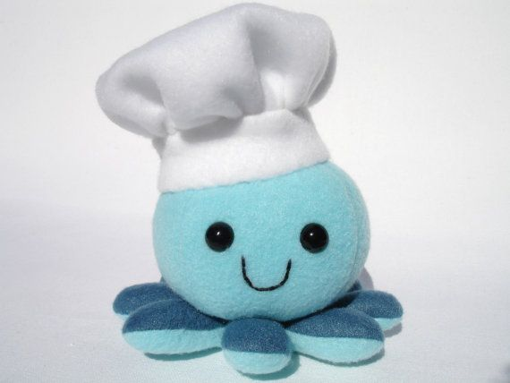 Stuffed Chef Octopus Plush Toy Chef Hat Toys Chef Hats