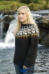 All wool hand made... Icelandic Sweater. Put me in it with hiking boots and jeans :) Puffins are super cute!