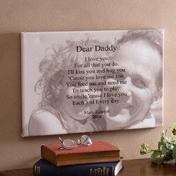 A Father's Day gift IdeaIdeas Lov, Christmas Gifts For Daddy, Dear Daddy, Father'S Day Gifts, Daddy Gift, Gift Ideas, Fathers Day Gift, Canvas, Photos Sentimental