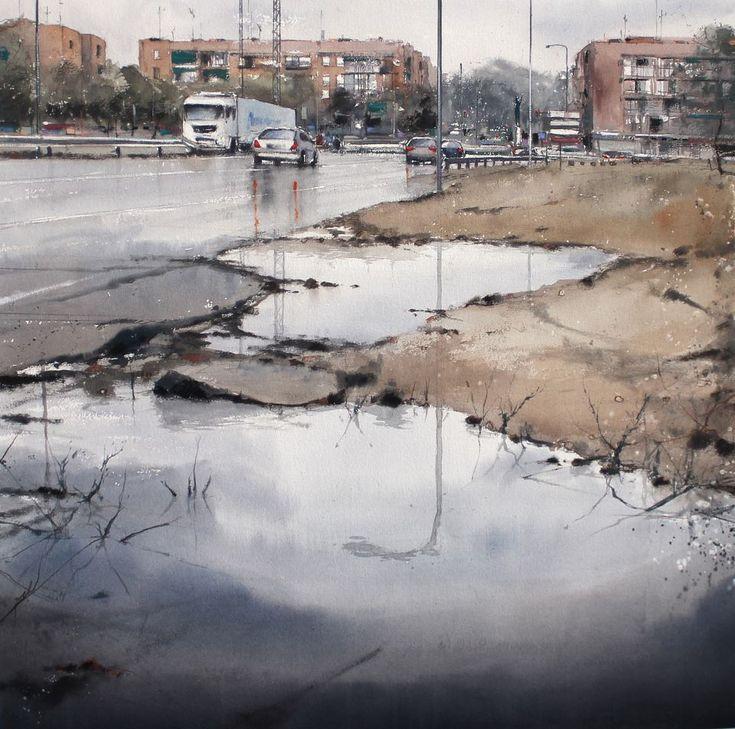 Plein Air Painting Contest SAN NICASIO (Leganés) Acuarela/Watercolor 100 x 100 cm.