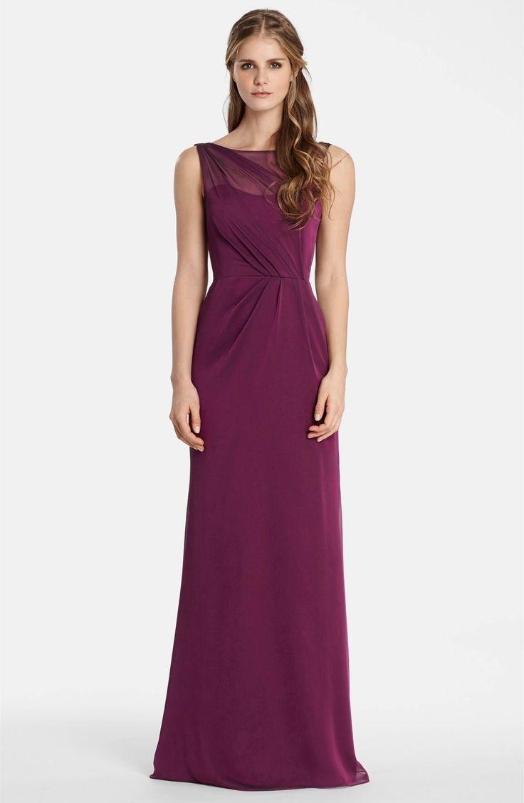 Main Image - Jim Hjelm Occasions Drape Back Luminescent Chiffon A-Line Gown