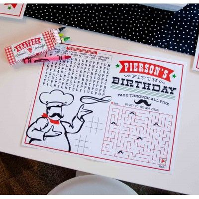 Pizzeria Pizza Party Printable Activity Coloring Page (andersruff.com}; For the little people
