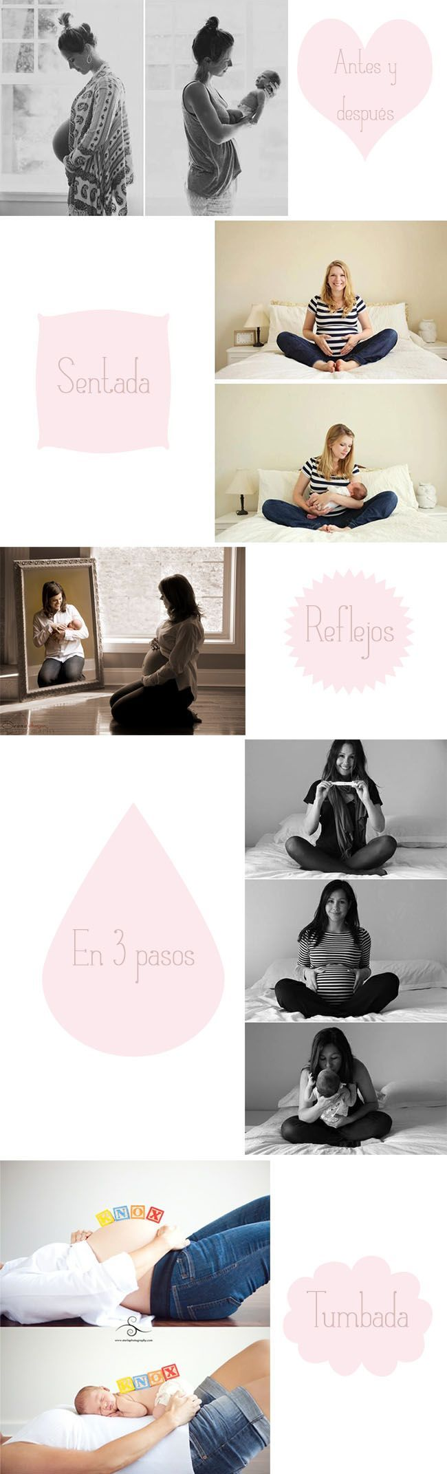 Hoy os dejo con estas ideas preciosas para FOTOGRAFIAR 1 EMBARAZO. Estoy buscando inspiración para fotografiar a mi cuñada y mi futura ahijada. Qué ganas!