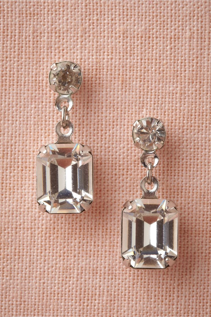 Clarion Drops- rhodium plated brass and glass crystals from Paris by Debra Moreland