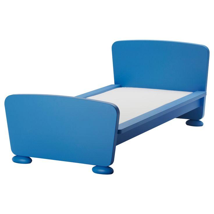Mammut estructura de cama con somier azul ikea - Base de cama ikea ...