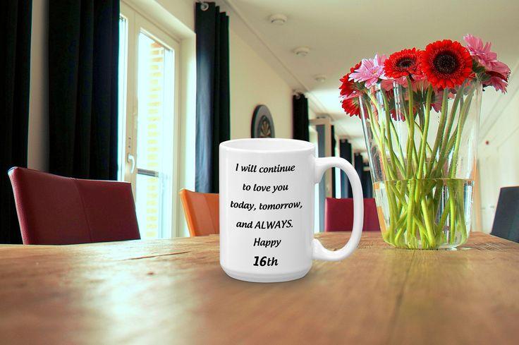 16th wedding anniversary coffee mug 16 yrs romantic etsy