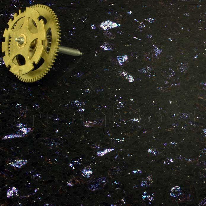 Cosmos Black Sparkling Quartz Tiles (Blue Sparkle)