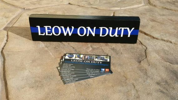 Thin Blue Line Desk Plaque Name Plate. Police Officer gifts