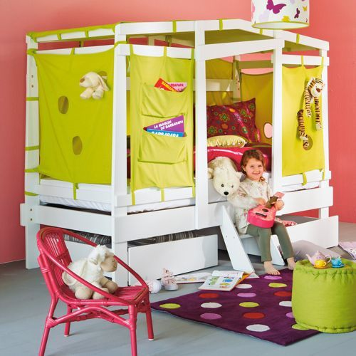 Lit cabane enfant avec 2 tiroirs - Alibaba