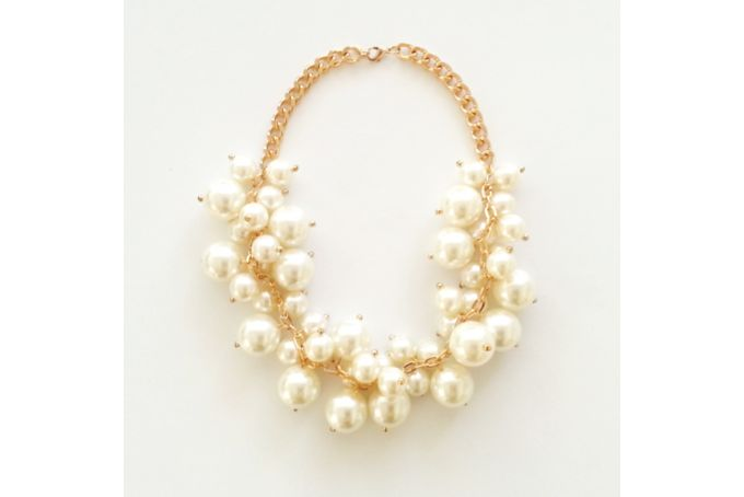 Gold Pearl Statement Necklace by Jewels and Lace on http://hellopretty.co.za