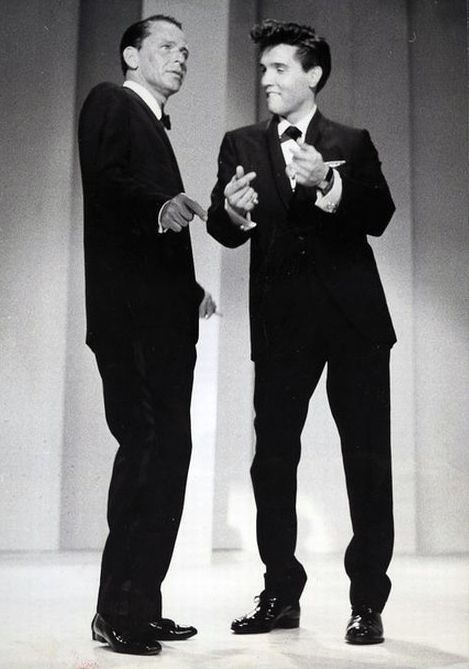 Frank Sinatra and Elvis Presley, two of my most favorite people.#ElvisSerendipity #Elvis #Presley The King of Rock and Roll