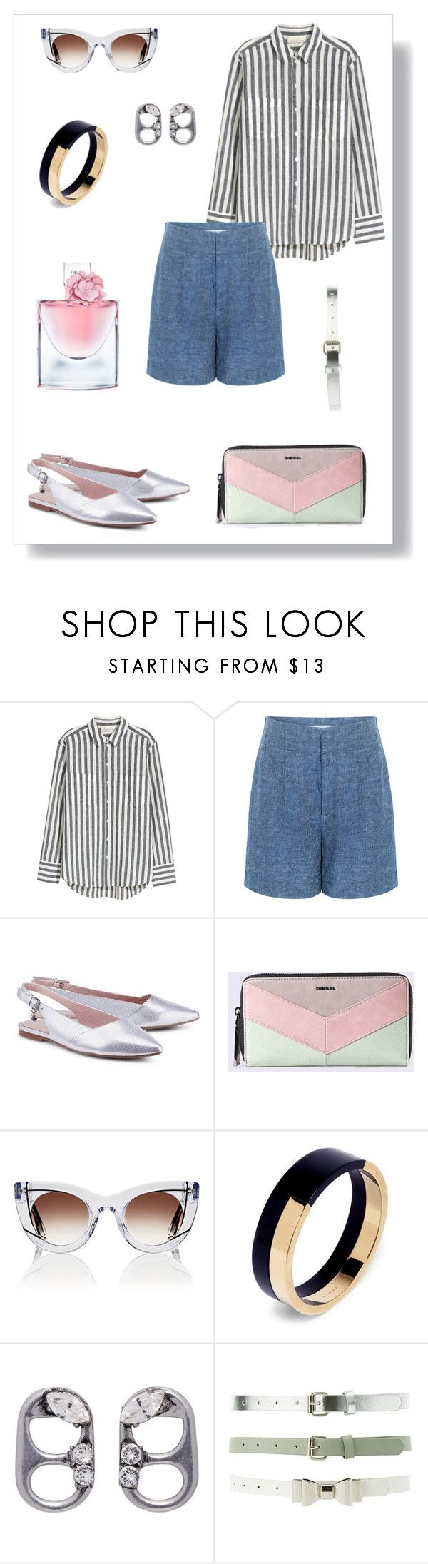 """""""№ 483"""" by tigrpuh ❤ liked on Polyvore featuring 10 Crosby Derek Lam, Diesel, Thierry Lasry, Marni, Marc Jacobs, Charlotte Russe and Lancôme"""